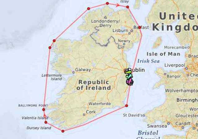 Round Ireland Yacht Race Tracker 2018 Here!