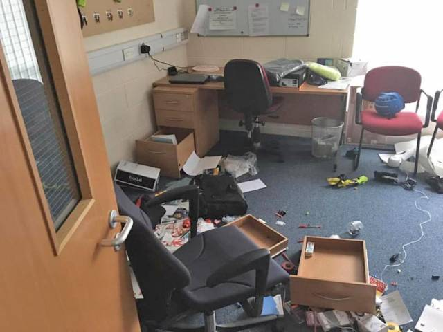 HM Coastguard's Coleraine station was ransacked by burglars in Tuesday night