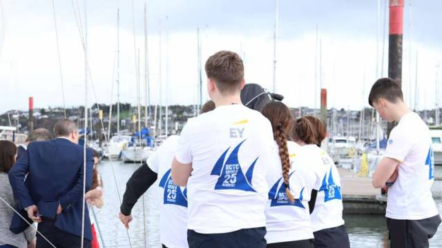 The RCYC U25 team sporting North Sails T-Shirts