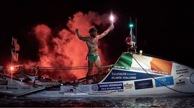 Ocean Rower Gavan Hennigan is Afloat Rower of Month