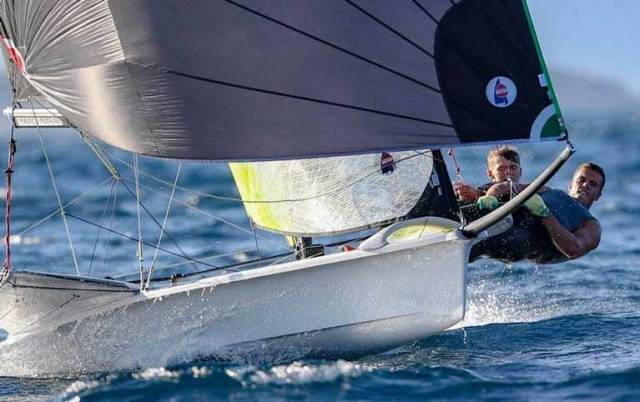 In the groove – everything went the Gold Medal way for Robert Dickson & Sean Waddilove at the 49er Under 23 Worlds to make them Sailors of the Month (Olympic) in September