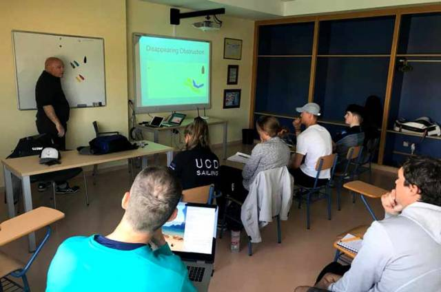 Rules Class with Bill O'Hara for Irish Laser Academy Sailors in Cadiz