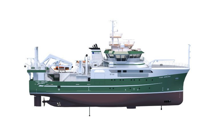 Ireland's new 52.8-metre modern research vessel, the Tom Crean