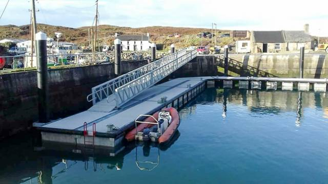 Cape Clear Harbour Pontoons in Place, New Facility for West Cork Coast