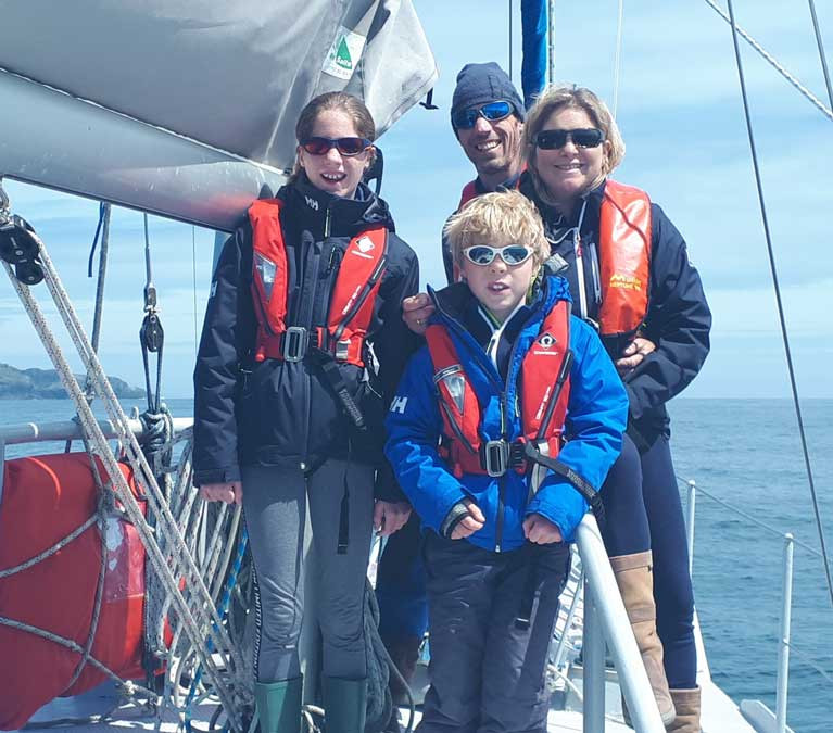 Danu's crew find their first sunshine as they depart from Ireland in late June 2019