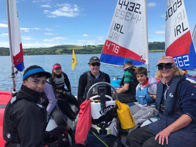 Waiting for the wind at the Topper Irish Championships on Larne Lough
