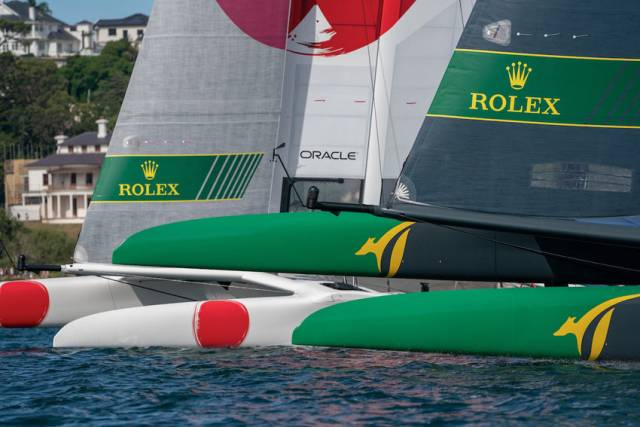 Japan and Australia nose to nose in San Francisco at this weekend's SailGP event