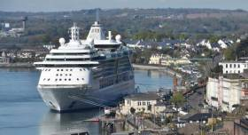 A cruise ship docked in Cobh last year. Afloat adds the caller is from operator Royal Caribbean International.