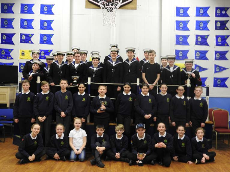 Bangor Sea Cadets after a Royal Navy parade