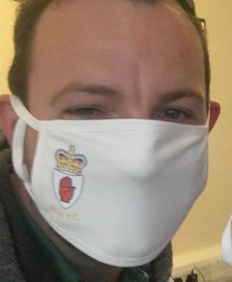 A clear statement: the Royal Ulster Yacht Club's prototype insignia facemask ironically disguises the wearer very effectively, but leaves no doubt about his club.