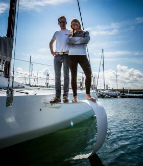 Conor Fogerty and Susan Glenny in Dun Laoghaire ahead of tomorrow's Dun Laoghaire Dingle Race