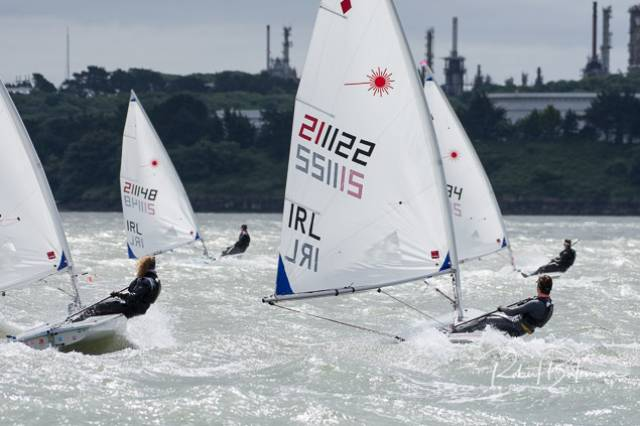 Testing conditions for the Laser Connacht fleet off Cuskinny in Cork Harbour. Scroll down for photo gallery below