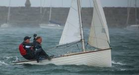 A class still going strong. An IDRA 14 sailing in breeze in Dun Laoghaire. The Class's 70th Anniversary Dinner is being held this Saturday night in the Royal St George YC in Dun Laoghaire