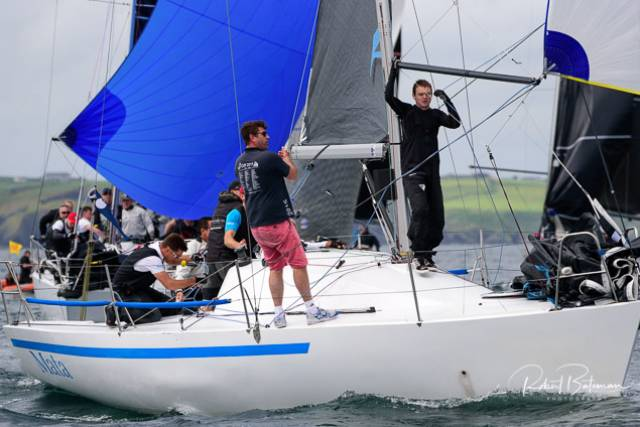 Michael Wright's Mata took the win in the IRC Half Ton Cup Division of the Sovereign's Cup