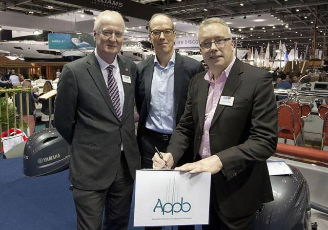 Howard Pridding, Brienc Morin and Jonathan Fielding at the London Boat Show
