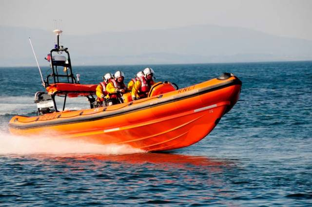 Bundoran lifeboat crew immediately took the man onboard and began to administer casualty care