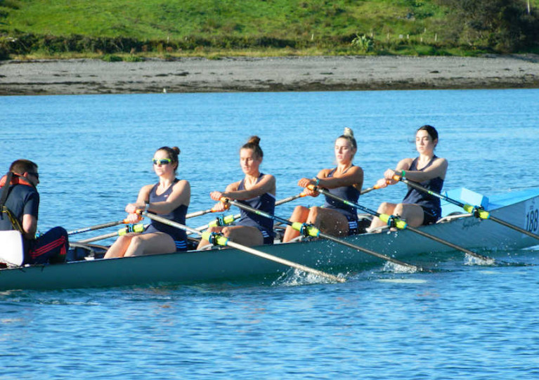 Host club Portmagee Rowing Club El Nino with David Hussey coxing, Aoife Lynch at stroke, Cliona Murphy 3rd, rachel Devane 2nd and Sorcha Lynch at bow