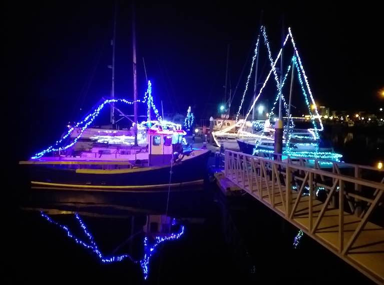 A festive maritime scene at Arklow Harbour