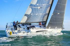 Winter? What winter? Veteran skipper George Sisk's rejuvenated Farr 42 WOW in sparkling form in the Turkey Shoot Series in Dublin Bay