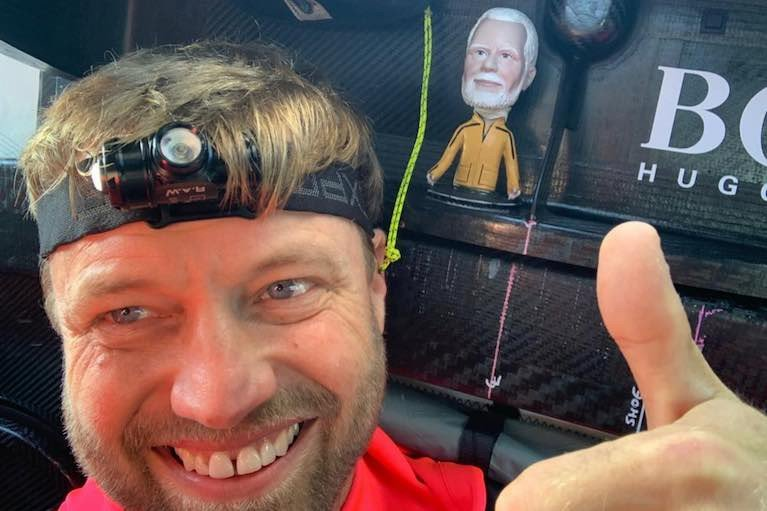 A selfie from Alex Thomson, a Vendee Globe pre-race favourite