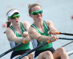 Aoife Casey and Margaret Cremen in action.