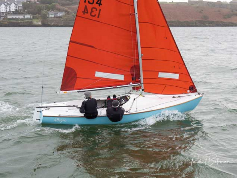 Squib sailing at Kinsale Yacht Club