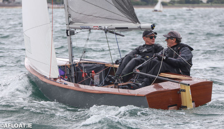 Moville Sailing Club brothers John and Donal McGuinness competing in their GP!4 dinghy. Nationally the GP14 is the biggest adult dinghy fleet in the country with about 40 boats at its National Championships
