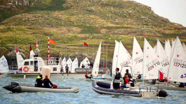 It could well be Connemara, but it's actually Howth Sound in late March, when the annual eight-race IceBreakers series gets under way