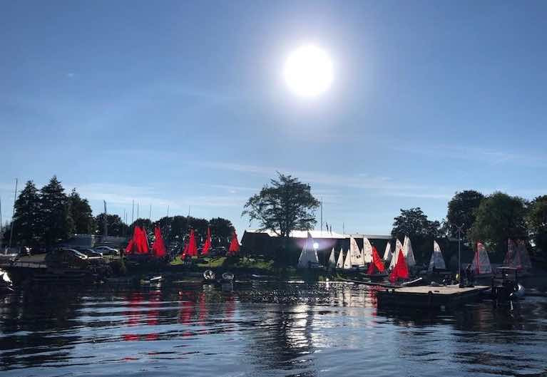 420 Connaughts 2020 at Lough Ree - preparing to launch on Sunday morning