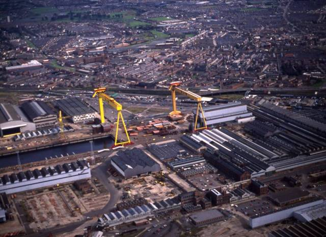 The Harland & Wollf shipyard in Belfast employs around 130 people, specialising in energy and marine engineering projects.