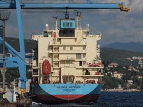 Maersk Antwerp (renamed Antwerp) is a sister of Maersk Alabama that was hijacked by Somali pirates and in which the film 'Captain Phillips' is based from