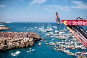 Red Bull's cliff divers are also returning to Polignano a Mare in Italy this year