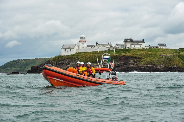 Crosshaven RNLI off Roches Point at the entrance to Cork Harbour