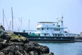 The 30m luxury yacht 'Impetus' is one of the first of this Summer's superyacht visits to Dun Laoghaire Marina