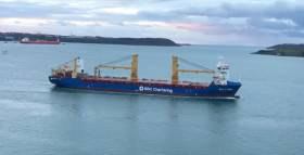 BBC Pearl heading upriver as captured by Eddie English this morning