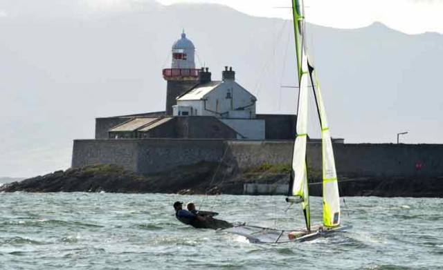 Olympic 49er Hopefuls Put on a Show in Tralee Bay