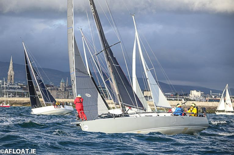 An ISORA Race start off Dun Laoghaire Harbour in 2019