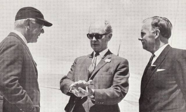 At the 1969 Quadrimillennial celebrations at the Royal Cork Yacht Club are (left to right) Clayton Ewing (Commodore, Cruising Club of America), An Taoiseach Jack Lynch TD, and Dennis Faulkner, Commodore Irish Cruising Club.