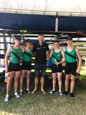 Olympic champion Mahe Drysdale with Neptune's Fawley crew