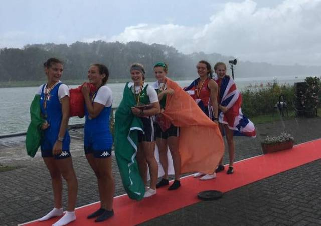 Ireland's Junior Women's Pair with their Gold Medal today.