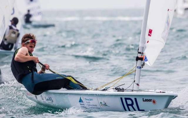 Ireland's Conor Quinn scored 11th in race two at the Youth World Sailing Championships in Sanya