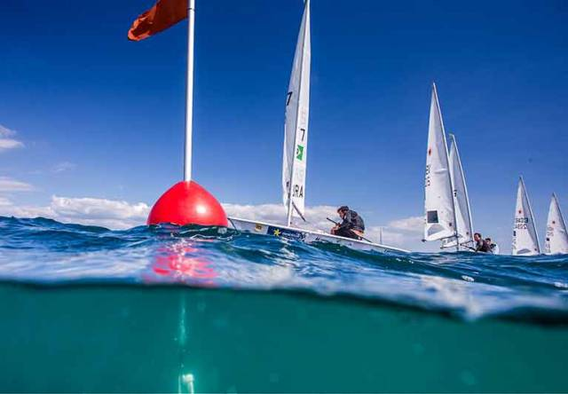 Liam Glynn is racing in the Laser gold fleet in Palma