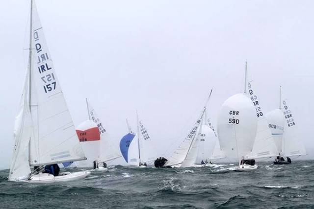 Conditions were wet and wild on the third day of the 2016 Dragon Edinburgh Cup