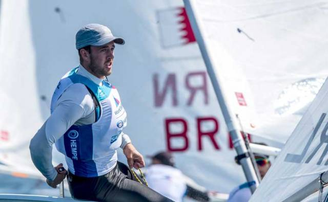 Finn Lynch Racing for Laser World Cup Medal in Genoa