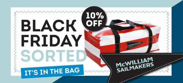 McWilliam Sailing Bag Black Friday Specials!