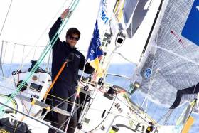 Sebastien Simon, front-runner in the Solitaire URGO Figaro. He has a new IMOCA 60 on the way for the Vendee Globe 2020