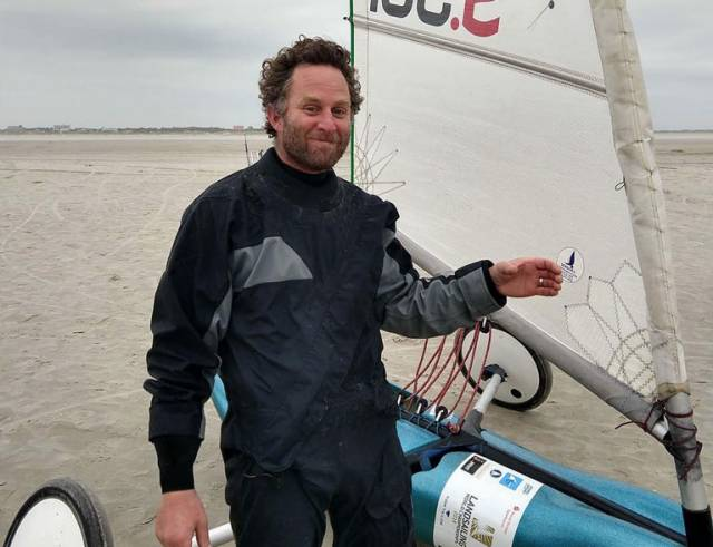 Graeme Grant, a well-known sailing coach and boat builder started his sand yachting at Bettystown with the IPKSA in 2016 and competed in the European Championships held in Bettystown 2017
