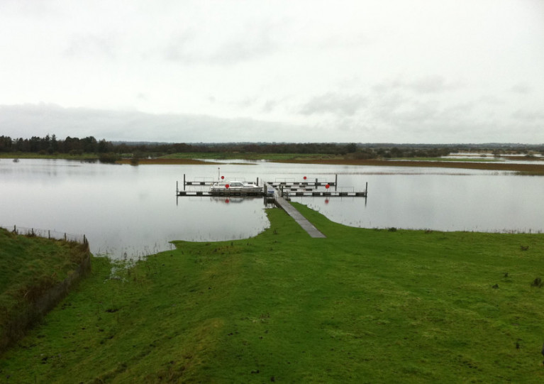 The WI jetty at Clonmacnoise is among a number closed for two weeks under localised restrictions in Midlands counties