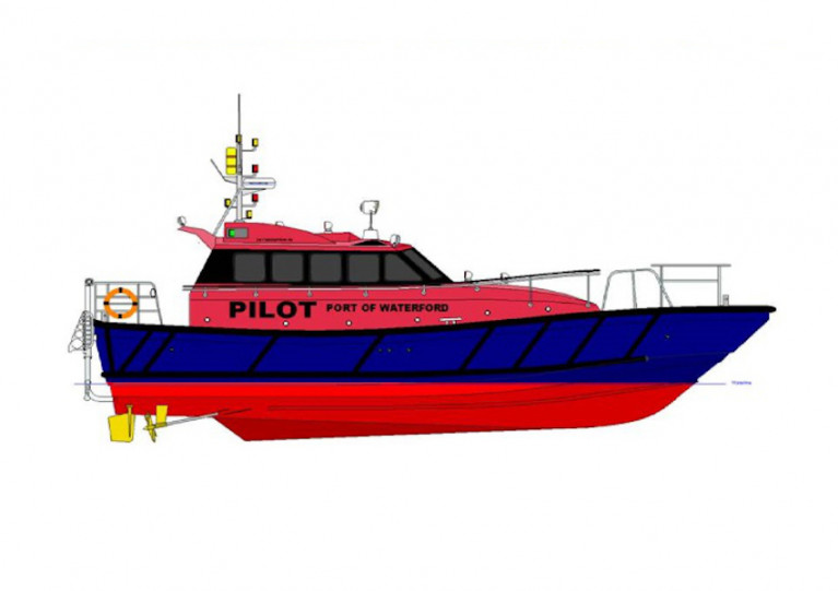 Artist's impression of the new pilot boat for the Port if Waterford