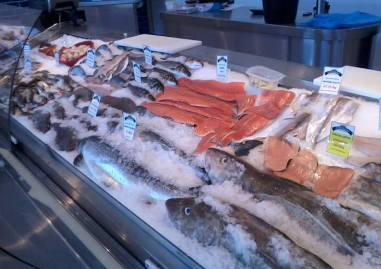 Fresh fish on sale at Keohanes' in Bantry